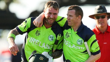 John Mooney and Niall O'Brien are jubilant after the victory
