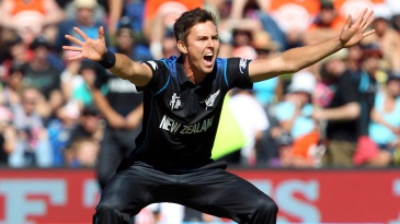Trent Boult struck twice in his first over