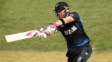 Brendon McCullum flays one through off side
