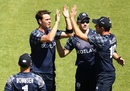 Iain Wardlaw removed both the New Zealand openers, New Zealand v Scotland, World Cup 2015, Group A, Dunedin, February 17, 2015