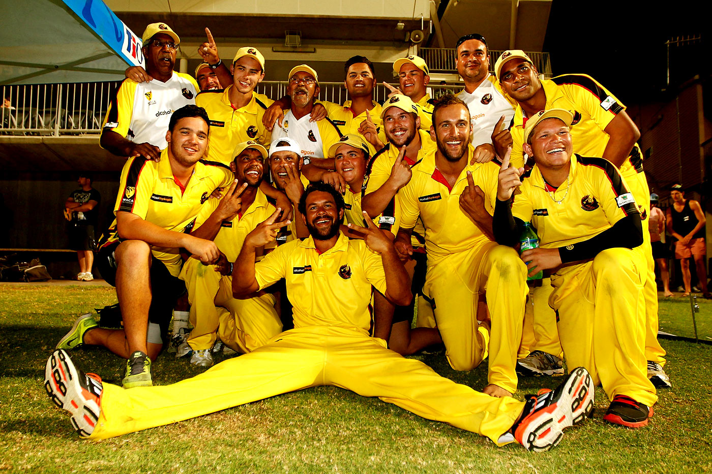 Bailey (kneeling, extreme left) captained Western Australia to victory in the 2014-15 Imparja Cup