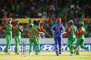 Afsar Zazai walks off after being trapped lbw by Rubel Hossain, Afghanistan v Bangladesh, World Cup 2015, Group A, Canberra, February 18, 2015