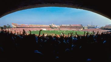 The Kolkata crowd cheers