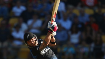 Baz(ooka): Brendon McCullum launches one on his way to the fastest World Cup fifty