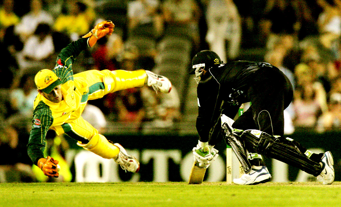 Adam Gilchrist: destructive in front of the stumps, constructive behind them