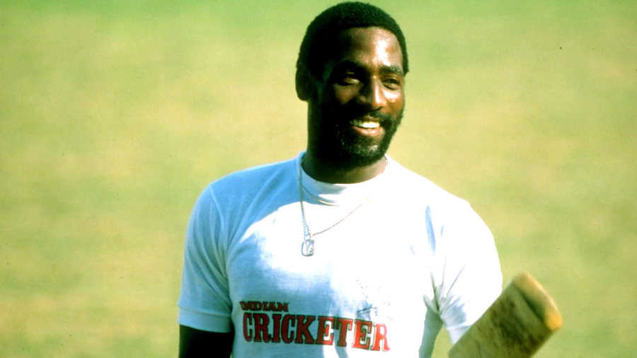 Viv Richards at a training session