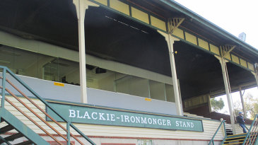 The old grandstand at Junction Oval