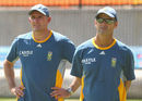 Former Australian cricketer Mike Hussey and former South Africa coach Gary Kirsten at the training session, Melbourne, February 21, 2015
