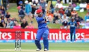 Javed Ahmadi carves one through the off side, Afghanistan v Sri Lanka, World Cup 2015, Group A, Dunedin, February 22, 2015