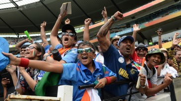 India had plenty of support from their fans