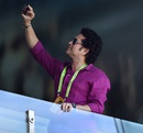 Sachin Tendulkar takes a selfie, India v South Africa, World Cup 2015, Group B, Melbourne, February 22, 2015