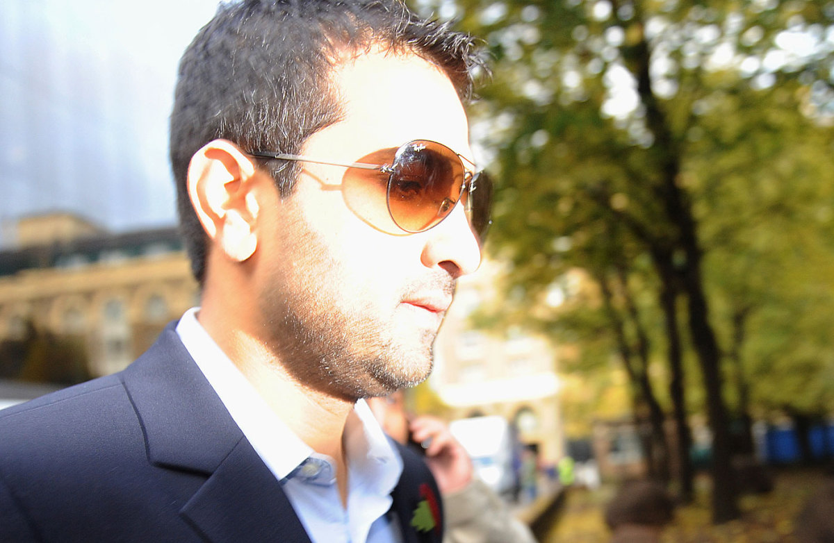 Mazhar Majeed attends a hearing at Southwark Crown Court