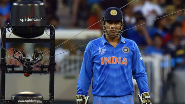 You talking to me? The spider cam catches up with MS Dhoni