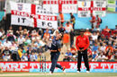 Iain Wardlaw in delivery stride, England v Scotland, World Cup 2015, Group A, Christchurch, February 23, 2015