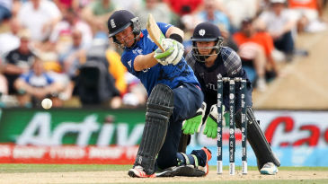 Ian Bell hits down the ground