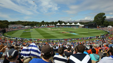 The Hagley Oval drew a big crowd for the England-Scotland game