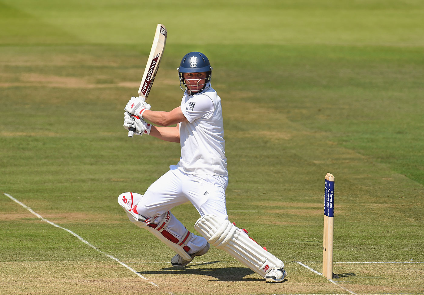 The bat says it all: Gary Ballance's strong back-foot play as a youngster set him apart from the other boys at school