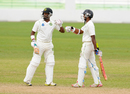 Narsingh Deonarine and Shivnarine Chanderpaul added 144 for the fourth wicket, Barbados v Guyana, Regional 4-day Tournament, 4th day, Bridgetown, February 23, 2015