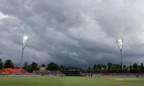 Dark clouds loom over the Manuka Oval, West Indies v Zimbabwe, World Cup 2015,  Group B, Canberra, February 24, 2015