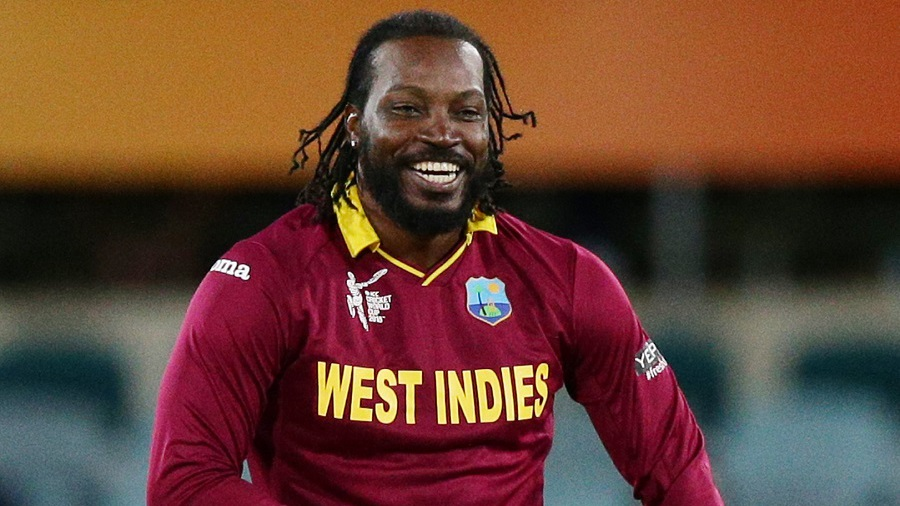 Chris Gayle followed his 215 with two wickets