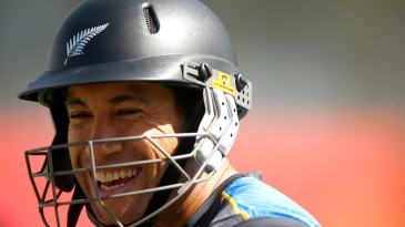 Ross Taylor looks relaxed during a training session