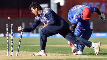 Hamid Hassan makes his ground in time to beat Majid Haq