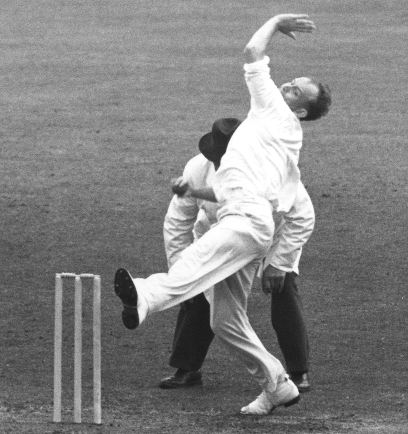 The Typhoon: Frank Tyson began the demolition job with two early wickets in the second innings