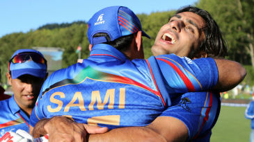 Samiullah Shenwari and Shapoor Zadran erupt in celebration