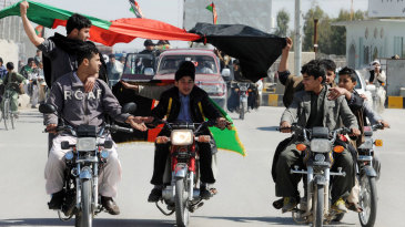 Flag-waving, bike-riding Afghanis enjoy their team's maiden World Cup win