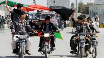 Flag-waving, bike-riding Afghanis enjoy their team's maiden World Cup win