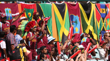 West Indies fans never fail to bring some colour and fervour to the stands