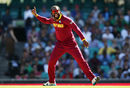 Chris Gayle picked the wickets of Hashim Amla and Faf du Plessis in the same over, South Africa v West Indies, World Cup 2015, Group B, Sydney, February 27, 2015