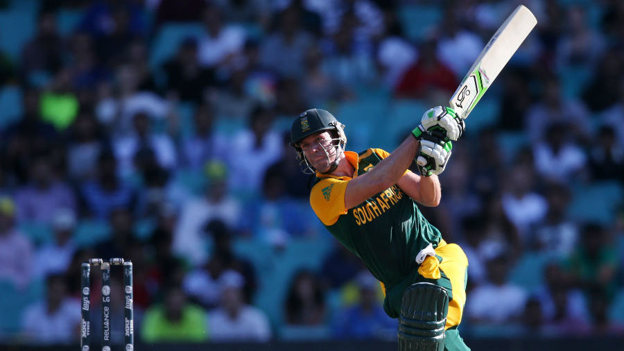 AB de Villiers hit 17 fours and eight sixes in his 66-ball 162