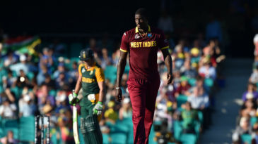 Jason Holder conceded 104 runs in is 10 overs, despite bowling two maidens