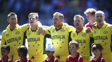 Australia's rendition of the national anthem