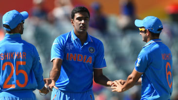 R Ashwin finished with 4 for 25, his first four-for in ODIs