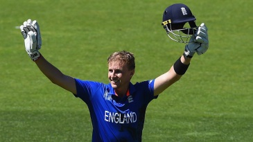 Joe Root soaks in the cheers after getting to a century