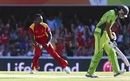 Tawanda Mupariwa is pumped up after getting rid of Sohaib Maqsood, Pakistan v Zimbabwe, World Cup 2015, Group B, Brisbane, March 1, 2015
