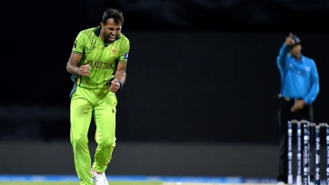 Wahab Riaz gets the affirmative for a caught-behind appeal
