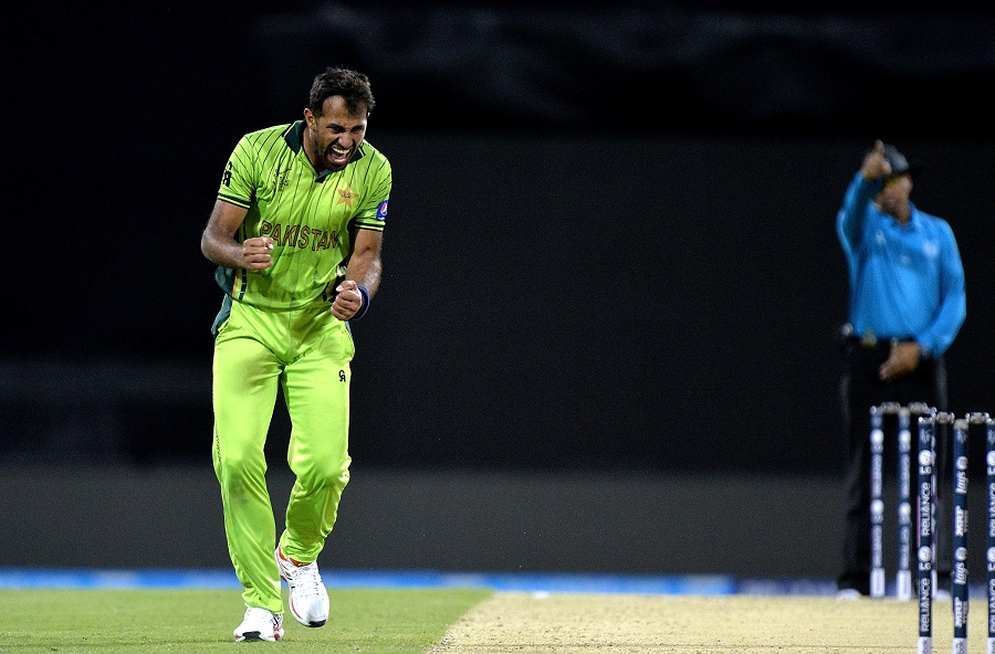Wahab Riaz becomes the first Pakistani to score a fifty and take 4 wickets in a World Cup match