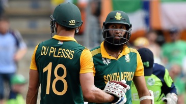 Hashim Amla and Faf du Plessis helped South Africa surge to 411