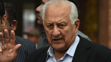 Shaharyar Khan speaks to reporters