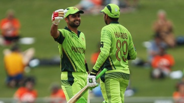 Ahmed Shehzad and Haris Sohail added 160 together
