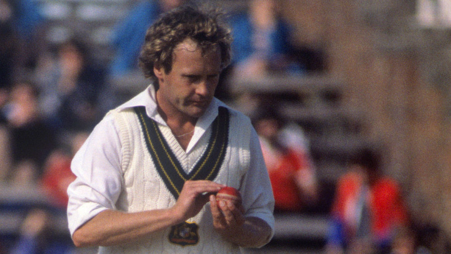 Rodney Hogg prepares to bowl