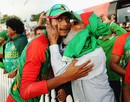 A fan kisses Shafiul Islam after the win at Saxton Oval, Bangladesh v Scotland, World Cup 2015, Group A, Nelson, March 5, 2015