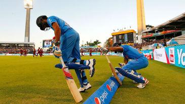 Rohit Sharma and Shikhar Dhawan step onto the field