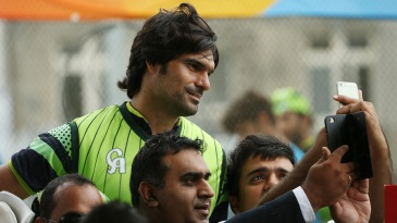 Tall order: Mohammad Irfan tends to make for a difficult selfie