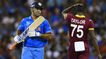 MS Dhoni struck an unbeaten 56-ball 45 to guide India home