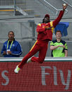 Solomon Mire attempts a catch at the boundary, Ireland v Zimbabwe, World Cup 2015, Group B, Hobart, March 7, 2015