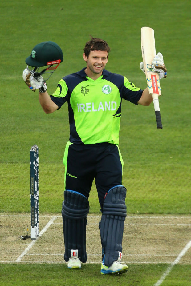 Ed Joyce struck three sixes and nine fours in his 103-ball 112